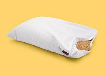 """Възглавница за сън """"Жу"""" с обвивки на просо"""
